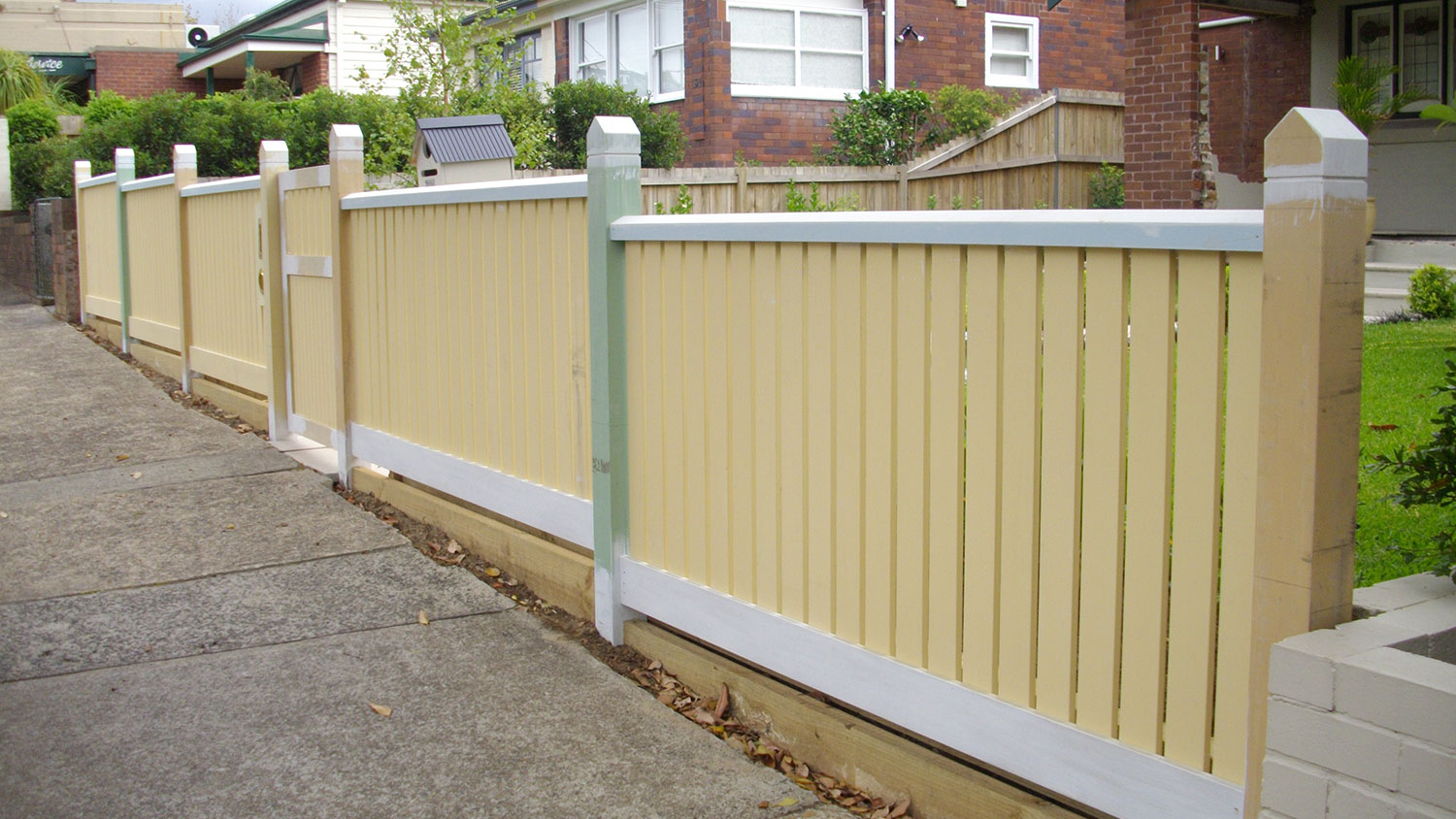 Timber fencing at Mosman